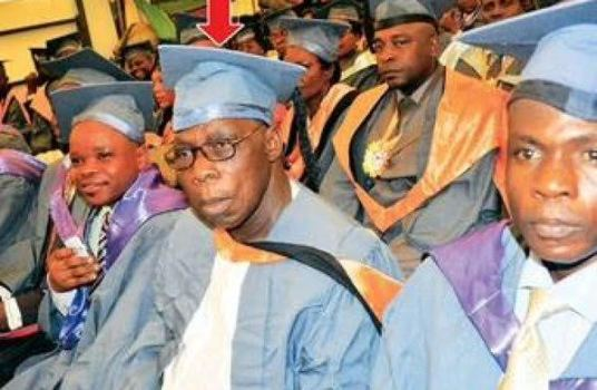 Obasanjo graduates from National Open University of NigeriaObasanjo graduates from National Open University of Nigeria